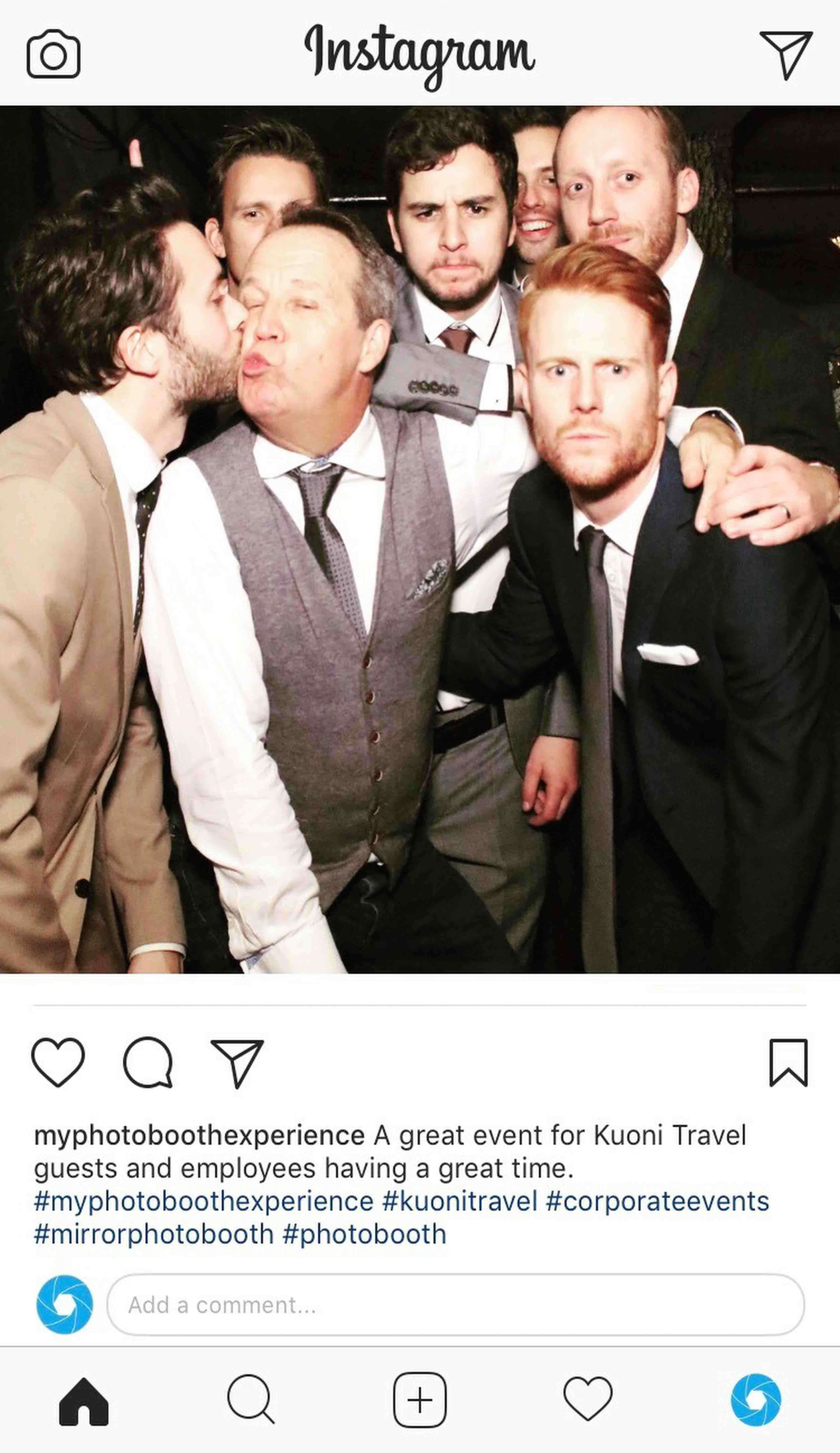 Party Photo Booth Hire Kuoni Instagram