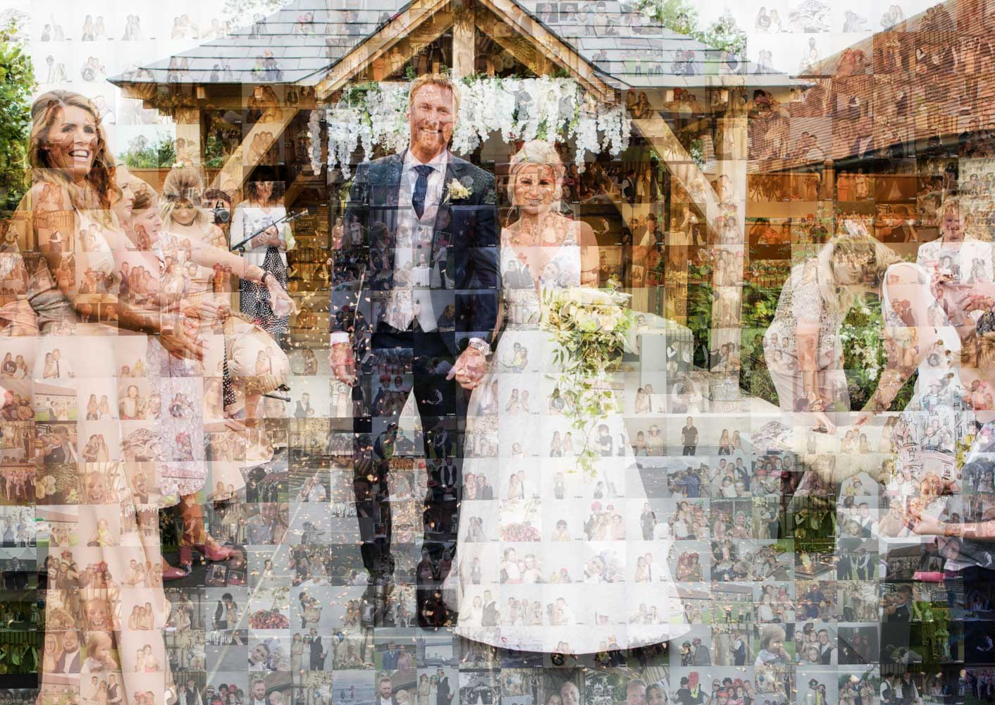wedding photo mosaic hire