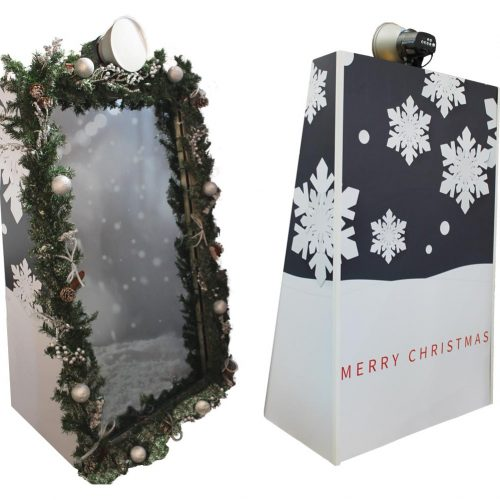 christmas mirror booth