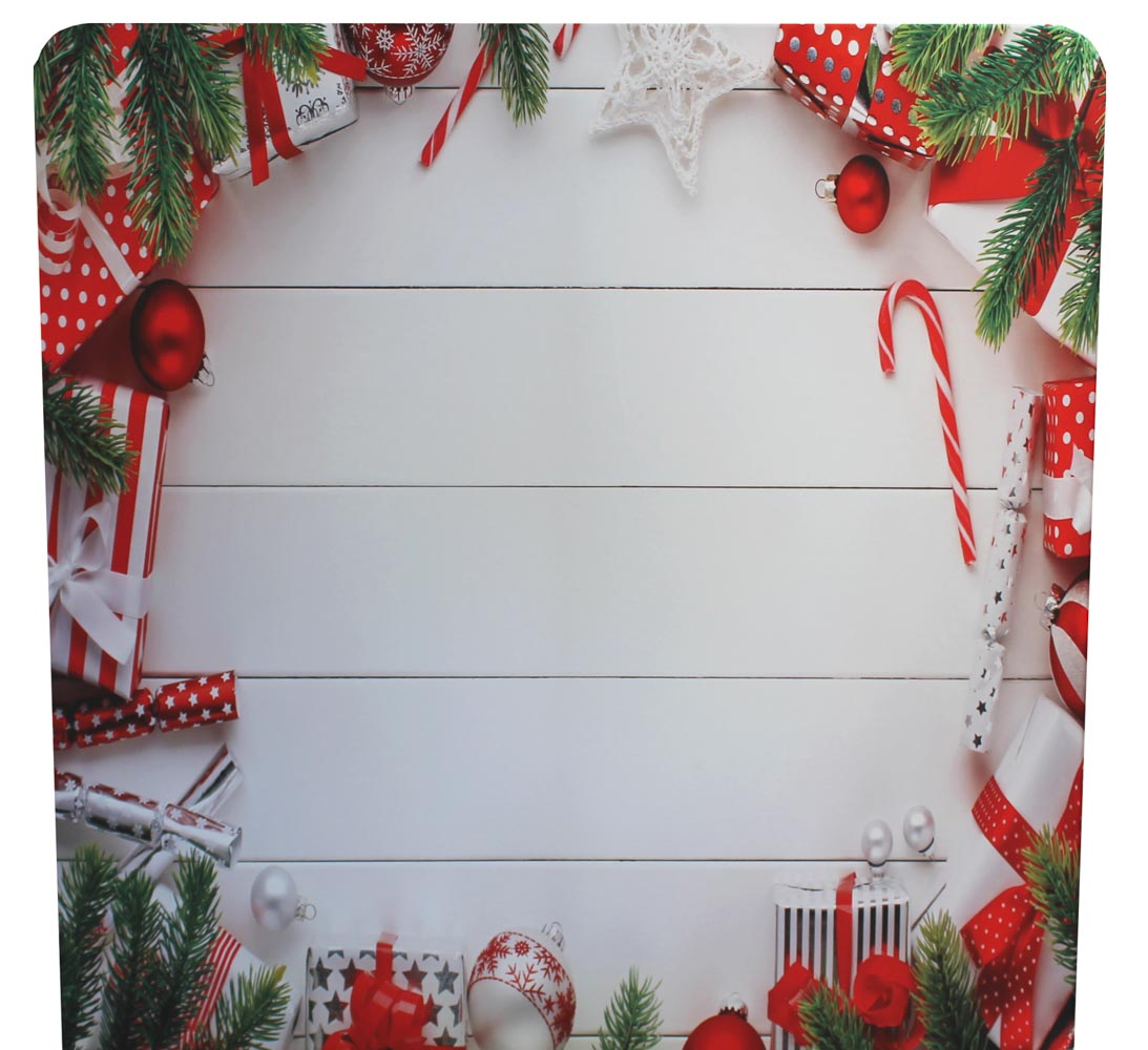 red white and green christmas backdrop